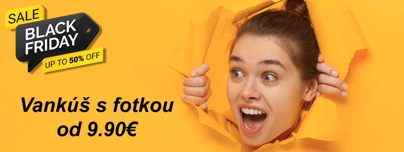 black friday vankúš s fotkou za 9,90€